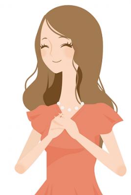喜ぶ女性のイラスト